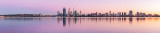 Perth and the Swan River at Sunrise, 9th April 2013