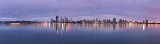 Perth and the Swan River at Sunrise, 25th April 2013