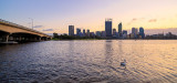 Perth and the Swan River at Sunrise, 31st August 2013