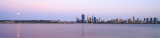 Perth and the Swan River at Sunrise, 18th November 2013