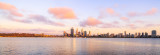 Perth and the Swan River at Sunrise, 7th January 2014