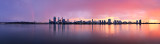 Perth and the Swan River at Sunrise, 13th March 2014