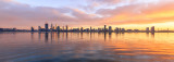 Perth and the Swan River at Sunrise, 10th May 2017