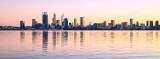 Perth and the Swan River at Sunrise, 28th June 2017
