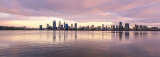 Perth and the Swan River at Sunrise, 20th August 2017