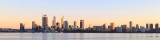 Perth and the Swan River at Sunrise, 6th September 2017