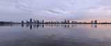 Perth and the Swan River at Sunrise, 7th September 2017