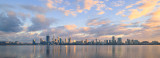 Perth and the Swan River at Sunrise, 10th September 2017