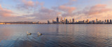 Perth and the Swan River at Sunrise, 19th September 2017