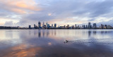 Perth and the Swan River at Sunrise, 24th September 2017
