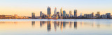Perth and the Swan River at Sunrise, 26th January 2018