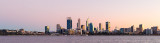 Perth and the Swan River at Sunrise, 29th April 2018