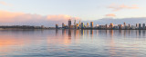 Perth and the Swan River at Sunrise, 2nd August 2018