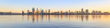 Perth and the Swan River at Sunrise, 10th August 2018