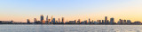 Perth and the Swan River at Sunrise, 12th August 2018