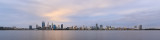 Perth and the Swan River at Sunrise, 14th August 2018