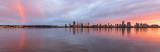 Perth and the Swan River at Sunrise, 17th August 2018