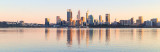 Perth and the Swan River at Sunrise, 25th August 2018