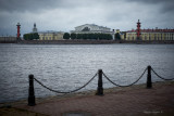 Old Saint Petersburg Stock Exchange and Rostral Columns