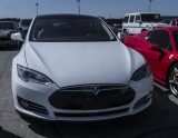 Tesla Model S in fine weather