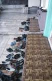 Mugla great mosque shoes