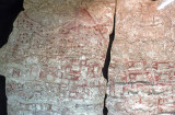 Wall painting of ancient map