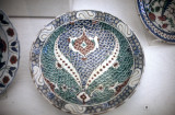 Plate with fish scale pattern