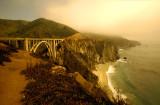 Bixby Bridge in Half Sun, Half Fog
