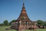 Stupa with Elephants