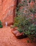 Walking to Sand Dune Arch