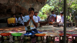 Prayer at Reclining Buddha Temple | Siem Reap