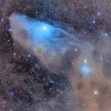 The Blue Horsehead Nebula IC 4592