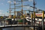 Bremen's notorious pancake ship and the old Alexander von Humboldt