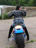 Eve And Our American Ironhorse Texas Chopper