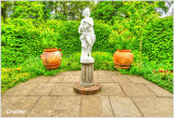 Statue and Plant Pots