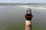 Morris Island Lighthouse, aerial views
