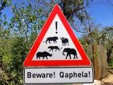 Warning sign at Hide