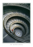 Italy - Rome -  Vatican Museum - Spiral staircase