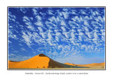 Namibia - Sossusvlei - Early morning clouds scatter over a sand dune