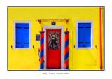 Italy - Venice - Burano Island - Yellow house on Fondamenta della Giudecca