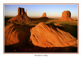 USA - Arizona - Monument Valley - Sunset glow on the valley