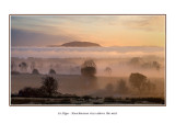 Ireland - Co.Sligo - Knocknarea rises above the mist - View from near Drumcliffe