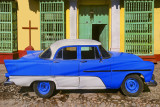 Cuba - Trinidad de Cuba - A fine blue and white model with the towns colonial architecture