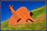 Ireland - Co.Longford - Longford  By Pass - The Violin.