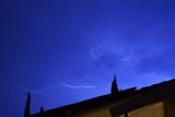 Blue Sky Lit with Lightning