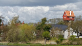 Thorpeness - House in the Clouds and windmill (just)
