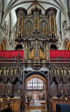 The organ from the chancel