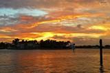 Colored evening sky