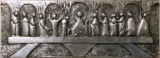 The last Supper abstract, aluminum 46x16.5cm.