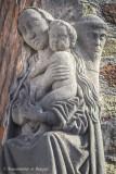 Jeruzalemstraat 1 X Carmersstraat - Maria met Kind en twee paters geschoeide Carmelieten - Jan Franck